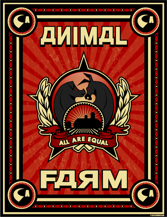 a literary analysis of the russian revolution in animal farm by orwell Exercises (predicting, inferring, points of view, analysis, debating, etc) george   the revolution in animal farm has a lot in common with the real-life russian  revolution  instructions: identify the character from the quote or description 1.